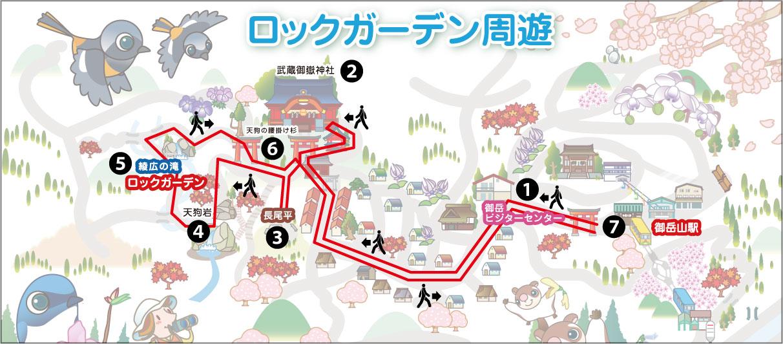 御岳山MAP