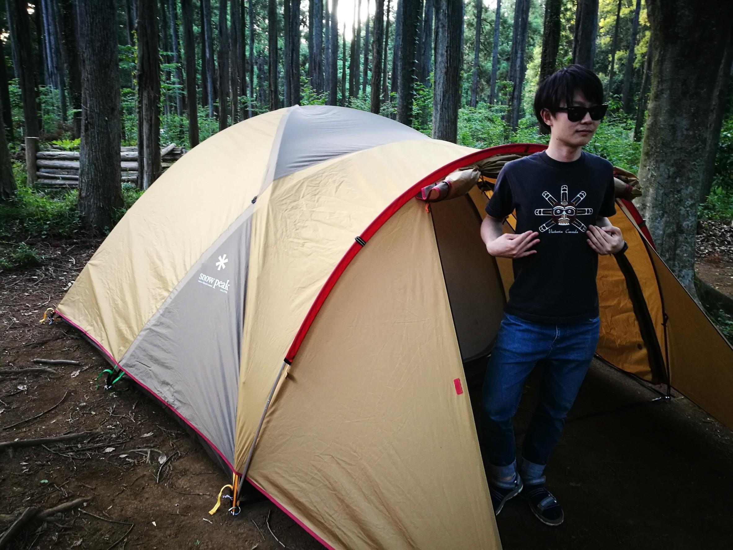 テントとしょーま